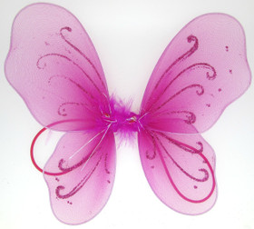 Dark Pink Baby Butterfly Wings