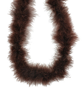 Chocolate Brown Marabou Feather Boa