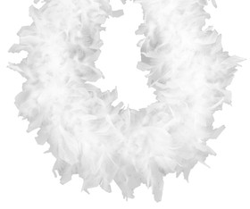 White Chandelle Feather Boa