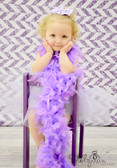 Chandelle Feather Boa Lavender
