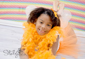 Orange Chandelle Feather Boa