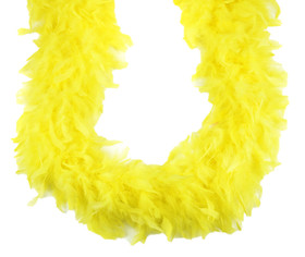 Yellow Chandelle Feather Boa