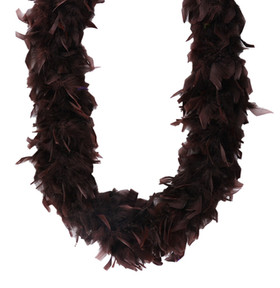 Chocolate Brown Chandelle Feather Boa