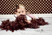 Chandelle Feather Boa Chocolate Brown