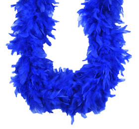 Royal Blue Chandelle Feather Boa