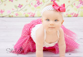 Girls Boutique Bows Hot Pink