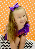 12 Purple Girl Boutique Bows