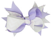 Lavender Chevron Double Tied Bows