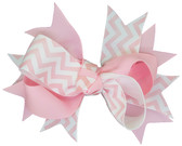 Light Pink Chevron Double Tied Bows