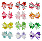 Assorted Chevron Double Tied Bows