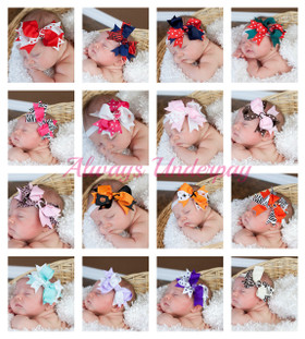 Assorted Double Tied Bows on Babies