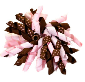Brown & Pink Korker Bows