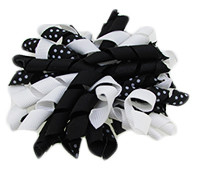 Black & White Korker Bows
