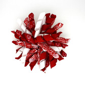 Red Zebra & Red with White Hearts Korker Bows