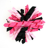 Hot Pink, Black & Light Pink Korker Bows