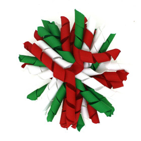 Red, Green & White Korker Bows