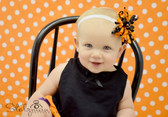 Black with Pumpkins Curly Mini Korker Bows