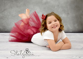 Burgundy Basic Ballet Tutu Dance Skirts Wholesale