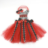 Zebra Red Bow Holder