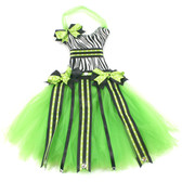 Zebra Lime Green Bow Holder