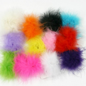 Assorted Marabou Puff Clips