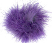 Purple Marabou Puff Clips