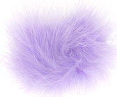 Lavender Marabou Puff Clips