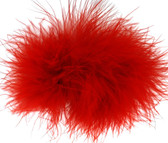 Red Marabou Puff Clips
