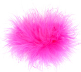 Hot Pink Marabou Puff Clips