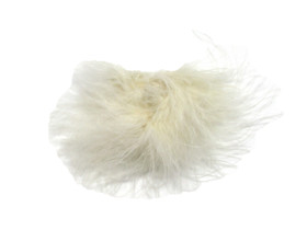 Ivory Marabou Puff Clips