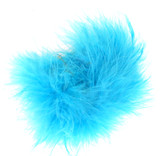 Turquoise Marabou Puff Clips