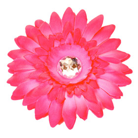 Hot Pink Gerber Daisy Flower Clip