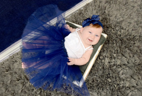 Navy Blue Ballet Tutu Girls Dance Skirts Wholesale