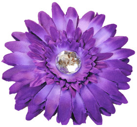 Purple Gerber Daisy Flower Clip