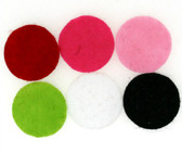 100 assorted felt circles