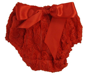Red Rosette Diaper Cover for Girls