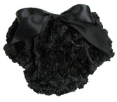 Black Rosette Diaper Cover for Girls