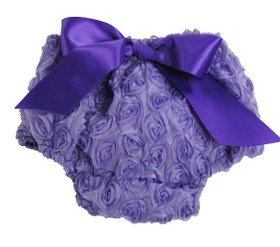 Lavender Rosette Diaper Cover for Babies