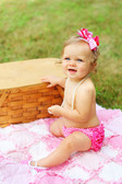 Chevron Bloomer with Ruffles Hot Pink (Shoes and Bow Sold Separately)