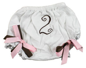 Light Pink & Brown Birthday Diaper Cover #2