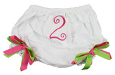 Hot Pink & Lime Green Birthday Diaper Cover #2