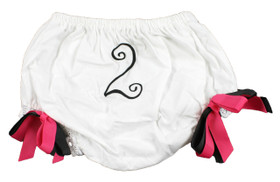 Hot Pink & Black Birthday Diaper Cover #2