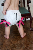 Hot Pink & Black Birthday Diaper Cover #1 Baby