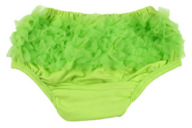 Lime Green Diaper Cover with ruffle butt
