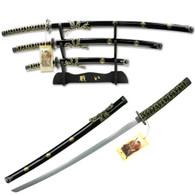 3PCS SAMURAI SWORD SET W/ STAND YK-85BF4