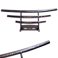 BLACK WOOD SHIRASAYA 3 PCS C-758BK/4