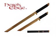 HERO'S EDGE DUAL SWORDS ANODIZED GOLD