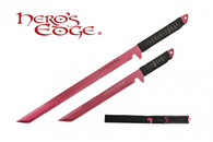 HERO'S EDGE DUAL SWORDS ANODIZED RED