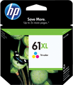 HP 61XL OEM High Yield Tri-Color Ink Cartridge (CH564WN / 61 XL)