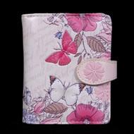 Vintage Butterfly Garden - Small Zipper Wallet